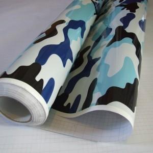 Камуфлажно фолио - Синьо