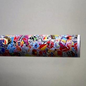 Фолио Sticker Bomb модел 8 + ламинат - 1.52м.