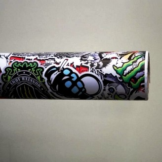 Фолио Sticker Bomb модел 13 + ламинат - 1.52м.